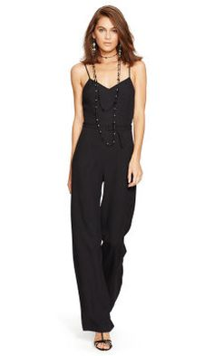 Wide-Leg Open-Back Jumpsuit - Polo Ralph Lauren Jumpsuits - RalphLauren.com