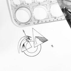 Things #illustration #illustrator #design #sketch #drawing #draw #art #artwork #artist #instaart #artistic #geometry #tattoo #tattoodesign #triangle #circle #linework #dotwork #wave #mountain #compass #minimal #travel #wanderlust #explore #blackwork #blackworkers #blackandwhite #instafollow #evasvartur