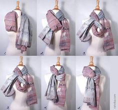 Ideas How To Wear Pashminas Scarf Ideas Wraps Ways To Tie Scarves, Ways To Wear A Scarf, How To Wear Scarves, Scarf Tying Blanket, Scarf Knots, Autumn Look, Winter Trends, Pashmina Scarf, Scarf Styles