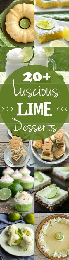 Although Key Lime Pie is a tasty classic, there are just so many more lime desserts available to tickle your tastebuds. Cakes, dessert bars, cookies and more. So next time you