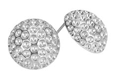 Enjoy a nice day out golfing with these elegant Silver Golf ball earrings!!