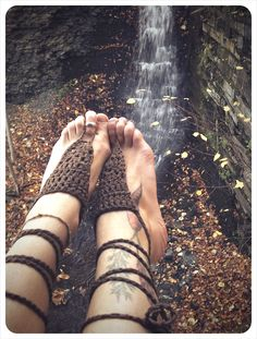 bare your sole. barefoot sandals. color shale. 'in stock/ ready to ship'. $20.00, via Etsy.