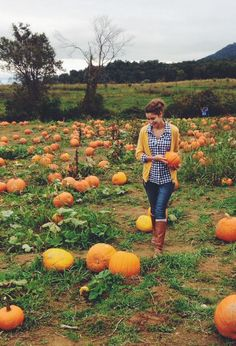The meadow at the nursery is shared with a pumpkin patch/pumpkin farm. Pumpkin patch wedding in October - phewfff exciting stuff. Autumn Day, Autumn Winter Fashion, Fall Winter, Autumn Style, Pumpkin Farm, Cute Pumpkin, Pumpkin Spice, Fall Pictures, Fall Photos