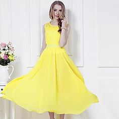 Chiffon Yellow Maxi Dress | buy it here: http://rstyle.me/~2rHBF