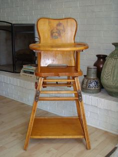 High Chair Converts To Table And Leather Cover 116 Best Chairs Potties Images Vintage I Had One Of These Still Remember Playing In It When Converted Down A Found At Flea Market For Our Grandson He Was