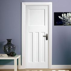 DX30's Style White Primed Panel Door - Lifestyle Image