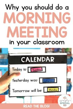 Morning meeting is essential for self contained classrooms. Why? Because of the repetition of skills each day and the functional material that is most often included in a morning meeting. Repeating the same skills over and over each day for 180 days is exactly what some of our students need to be successful… not only to learn just those skills, but also to increase their confidence and independence in the task!