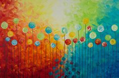 Art Abstract Painting Landscape Painting Original by QiQiGallery