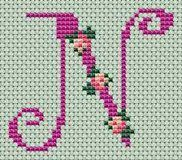 Small roses alphabet - free cross stitch patterns and charts - www.cz : Small roses alphabet - free cross stitch patterns and charts - www. Small Cross Stitch, Cross Stitch Letters, Cross Stitch Bird, Cross Stitch Borders, Cross Stitch Flowers, Cross Stitching, Cross Stitch Embroidery, Embroidery Patterns, Wedding Cross Stitch Patterns