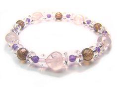 Rose Quartz Smoky Quartz Amethyst Clear Quartz Natural Crystal Bead Bracelet 1 - See more at: http://waggashop.com/wagga-shop-rose-quartz-smoky-quartz-amethyst-clear-quartz-natural-crystal-bead-bracelet-1