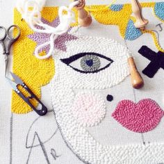 The Ultimate Guide to Needle Punching Embroidery Art, Embroidery Stitches, Diy Laine, Hook Punch, Punch Needle Patterns, Creation Couture, Punch Art, Rug Hooking, Fabric Art