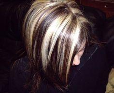 Blonde Hair with Black Lowlights