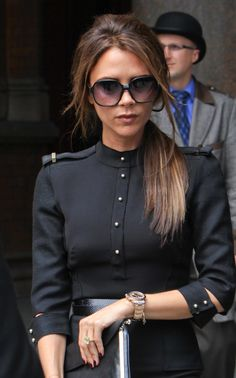 Pin for Later: Victoria Beckham's 45 Most Fabulous Moments in a Pair of Sunglasses To Put a Playful Touch on a Sophisticated Military Look