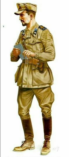 Italy WWII: Regio Esercito, Lieutenant, Motorized Corps, North Africa - pin by Paolo Marzioli