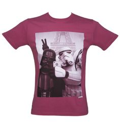 Men's Maroon Vader Stormtrooper Selfie Star Wars T-Shirt From Chunk : TruffleShuffle.com the storm trooper is taking the picture... He should have missed