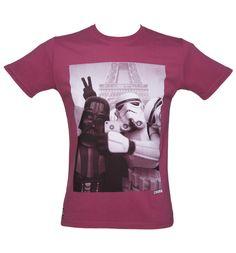 Men's Maroon Vader Stormtrooper Selfie Star Wars T-Shirt From Chunk : TruffleShuffle.com