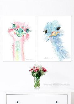 Watercolor Print, Watercolor Paintings, Creatures, Canvas Prints, Digital, Unique Jewelry, Handmade Gifts, Artwork, Fun