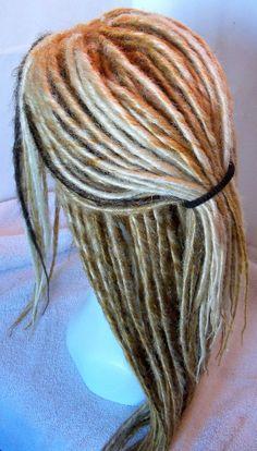 custom dread wig ombre blond auburn brown from damnationhair.com #damnationhair