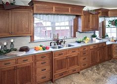 mission style kitchen cabinets pictures   Nice big kitchen with mission style kitchen cabinets. Photo courtesy ...