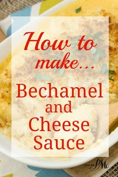 Béchamel sauce is known as white sauce, is made from a white roux and milk. It is a mother sauce of French cuisine which simply means it's the base sauce for other sauces. It is the perfect sauce for mac and cheese. Bechamel Cheese Sauce, Bechamel Recipe, White Cheese Sauce, Cheese Sauce For Lasagne, Lasagna With Bechamel Sauce, Bachemel Sauce, Roux Sauce, Hot Fudge, Sauce Creole