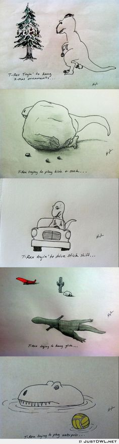 T-rex trying to do things PART 2 it's probably the best book ever made