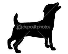 Jack Russell Terrier Silhouette -- for Pepper frame