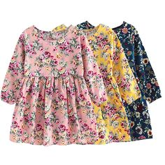 Cool Summer Baby Kids Dresses Children Girls Long Sleeve Floral Princess Dress Spring Summer Dress Baby Girls Clothes - $14.79 - Buy it Now!