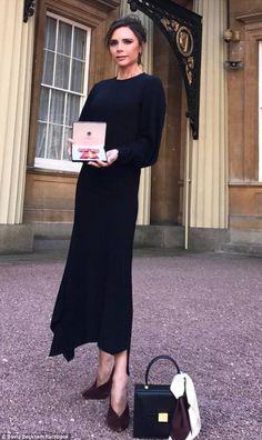 Victoria Beckham dedicates gushing note to husband David after OBE #dailymail