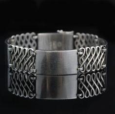 Vintage Georg Jensen Sterling Silver Bracelet #62 Denmark - http://designerjewelrygalleria.com/georg-jensen/vintage-georg-jensen-sterling-silver-bracelet-62-denmark/