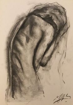 Small, Original, Impressionist, Drawing, Charcoal on Paper,