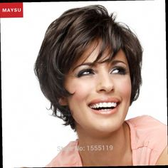 49.00$  Buy now - http://alik3i.worldwells.pw/go.php?t=32476613306 - Shaggy Short Human Hair Wigs For Women Elegant MAYSU Charming Fluffy Layered Brazilian Virgin Hair Blonde wig Capless Prevailing 49.00$