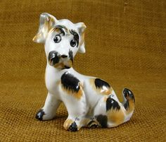Vintage Dog Figurine Ceramic Dog Miniature Dog Made In Japan