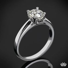 "Impressively designed, the ""Full of Surprises"" Solitaire Engagement Ring #Whiteflash"