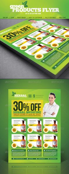 Supermarket / Product Flyer | Flyer Template, Brochures And Typography