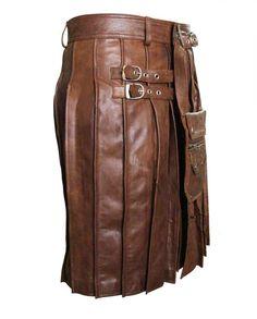 4f0d87b74cffb Mens New Leather Utility Kilt Choice of Colour Size Mans Leder