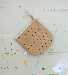 Leather Polka Dot Pouch by Pine & Boon on Scoutmob Shoppe
