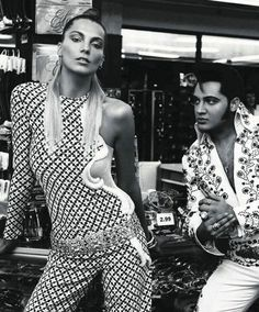 "Daria Werbowy in ""Viva Las Vegas"" by Inez and Vinoodh for Vogue Paris February 2012"