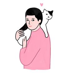 Homme à chat - #illustration #lorrainesorlet #cat #catlover #artwork #love #mood