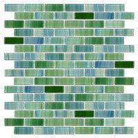 Caribbean Brick Glass .65 x 1.85 in $24.99 Sq Ft      Coverage 10.20 Sq Ft per  Box