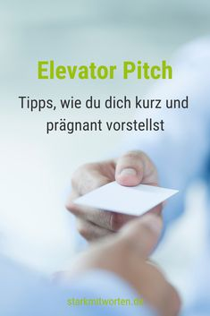 Elevator Pitch: Und was machst du so beruflich? Elevator Pitch: And what are you doing professionall Hashtags Instagram, Elevator Pitch, Coaching, Neuer Job, Motivational Stories, Marketing, Online Jobs, Starting A Business, Personal Branding