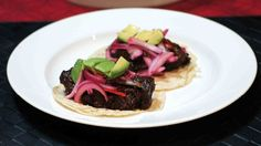 Red Wine Braised Beef Tongue Tacos. Serve with your favorite Paleo tortilla!