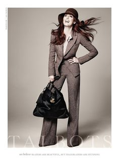 Julianne Moore for Talbots - amazing