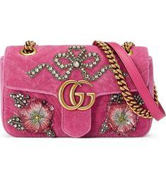 Main Image - Gucci Mini GG Marmont Matelassé Velvet Shoulder Bag