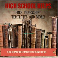 FREE templates and more helps for high school!