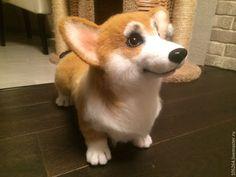 Купить Корги - собака, корги, авторская ручная работа, щенок, вельш корги, войлочная игрушка