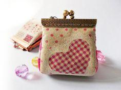 Coin purse / Mini coin purse / Linen purse / Clutch coin purse / Metal frame purse / Kiss lock frame - Made to order