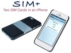 The SIM+ by Sumchi & TJ, via Kickstarter.  A Case That Connects Two SIM Cards to Your iPhone 5