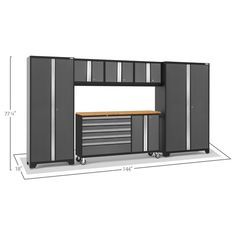 NewAge Products 50485 Bold Gray 6 PC Garage Storage Cabinets Gray * You can find out more details at the link of the image. (This is an affiliate link) Storage Sets, Hanging Storage, Storage Spaces, Storage Systems, Used Lockers, Garage Workshop Organization, Garage Storage Cabinets, Closet Rod, Adjustable Shelving