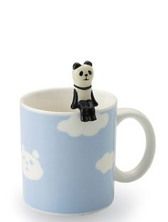 so clever! Panda Mug + Spoon Set