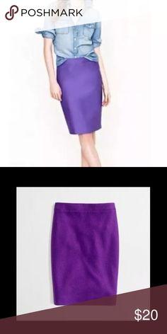 J. Crew wool purple pencil skirt 🎉 Good condition J. Crew Skirts Mini